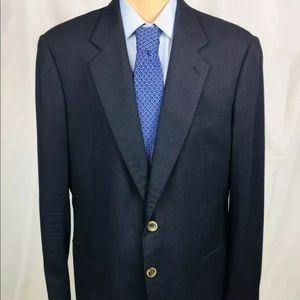 Armani Collezioni Cashmere Black Sportcoat Sz 46L